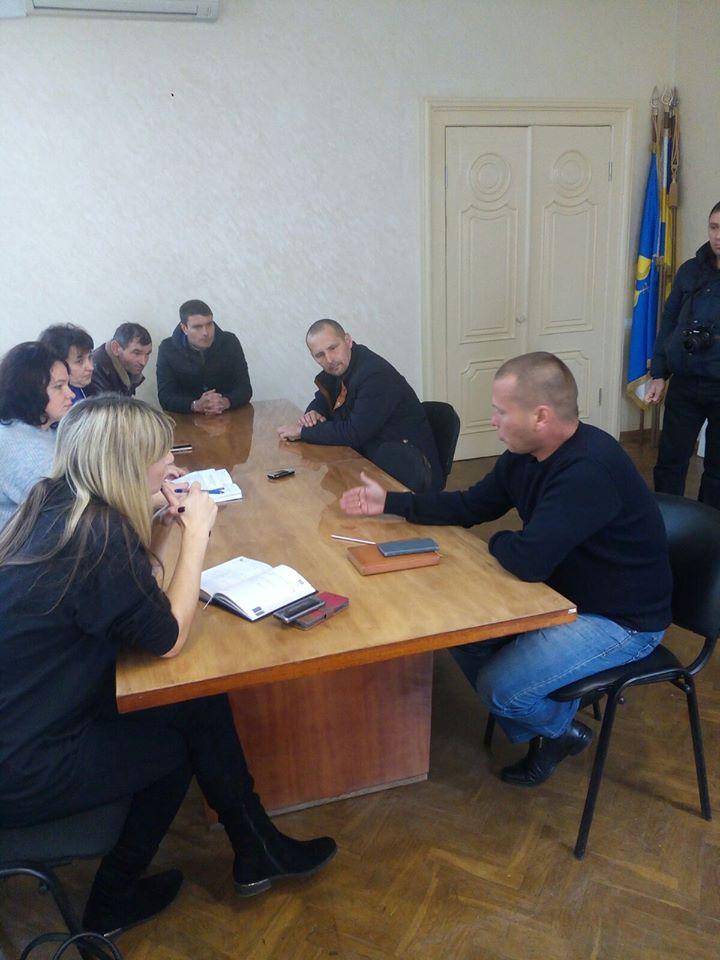 Міський голова Максим Лагодієнко провів робочу зустріч з радником обласної ради з питань АТО Вікторією Матієнко