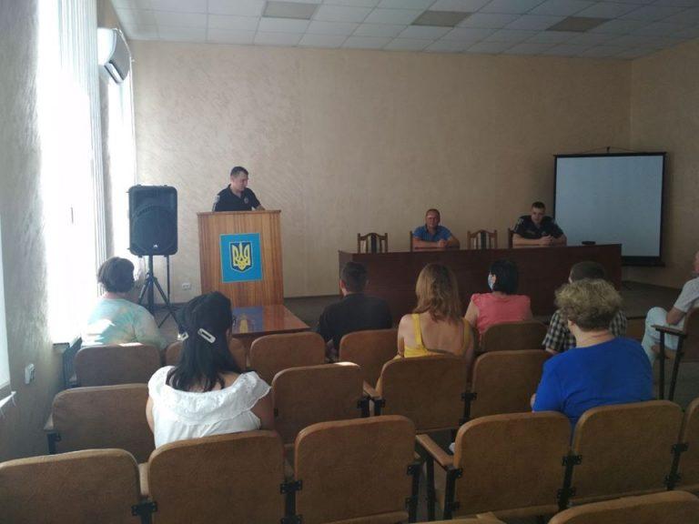 Сергій Король представив дільничних офіцерів поліції, які обслуговують територію Новобузької громади