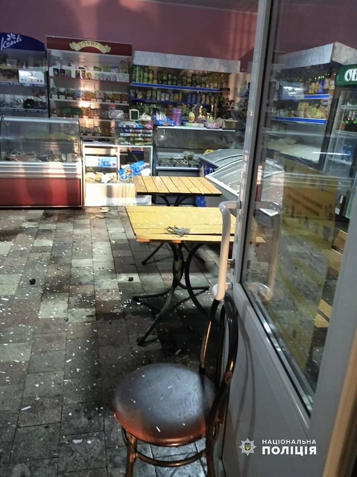 У магазині  Веселинівського району спрацював  вибуховий пристрій