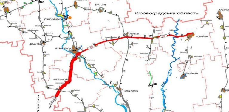 Управління доріг замовить документацію на капітальний ремонт дороги Новий Буг – Вознесенськ