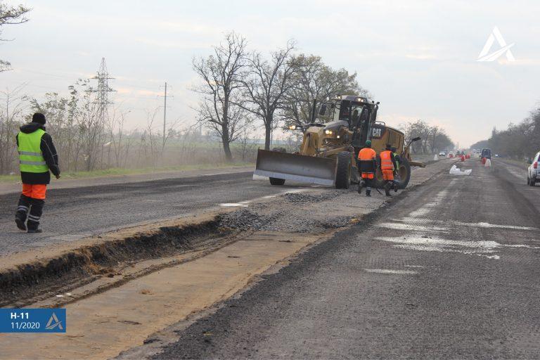 Ремонт дороги Н11 пролдовжується