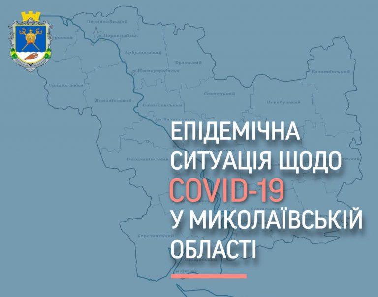 Епідемічна ситуація по Миколаївській області станом на 25.11.2020 року