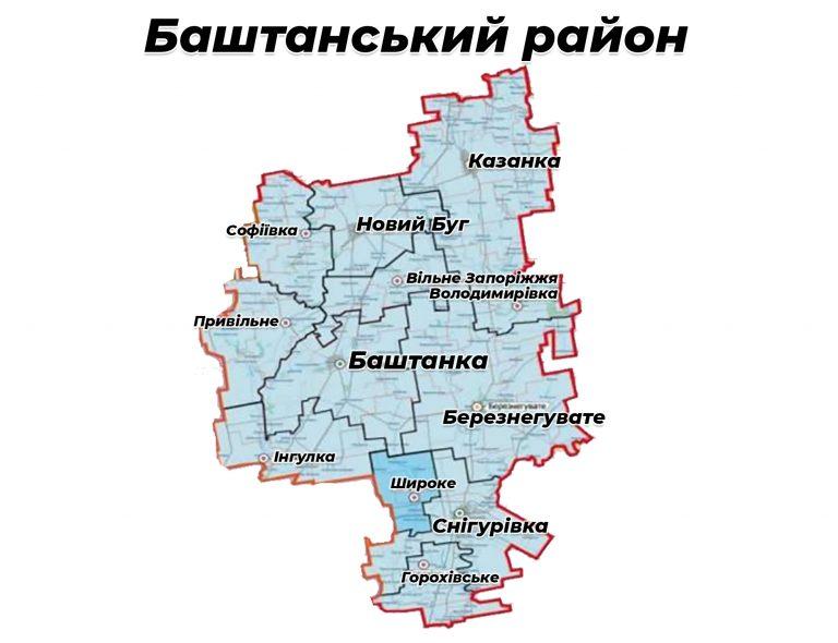 Депутати вирішили реорганізувати районні ради ліквідованих районів шляхом приєднання до Баштанської районної ради
