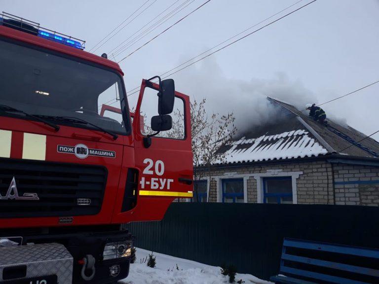 Рятувальники двічі гасили пожежі у житловому секторі, у Новобузькому районі чергова загибель людини