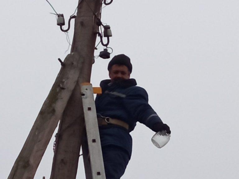 У Нововолодимирівці проведено ремонтні роботи на лініях електропередач