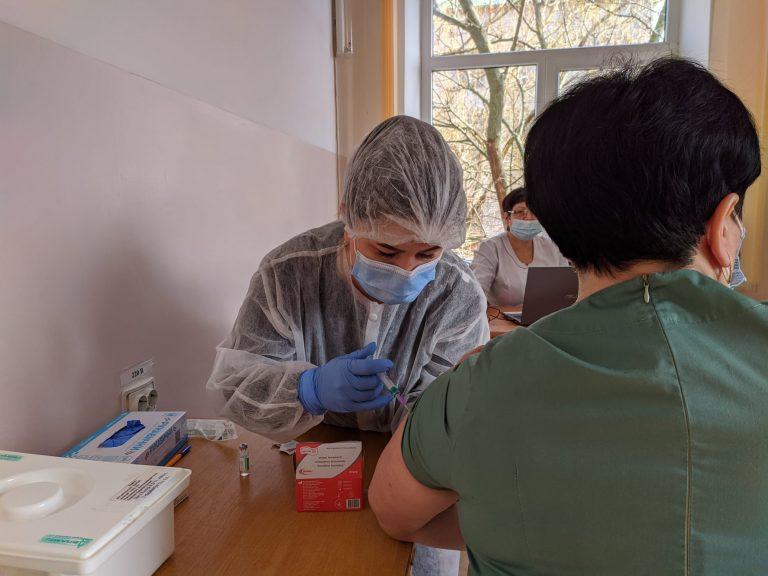 Перше вакцинування в Баштанському районі